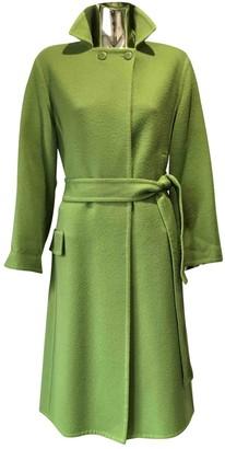 Saint Laurent Green Wool Coat for Women Vintage