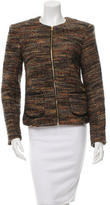 L'Agence Collarless Patterned Jacket