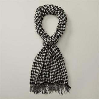 Love & Lore Love And Lore Sustainable Style Eco Houndstooth Scarf Black & Ivory