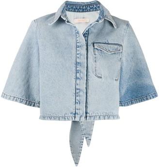 Ssheena Bleached Denim Shirt