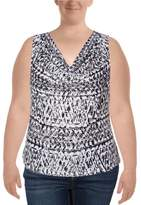 Calvin Klein Womens Printed Sleeveless Blouse