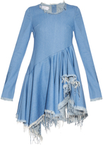 Marques Almeida MARQUES'ALMEIDA Frayed-edge long-sleeved denim dress