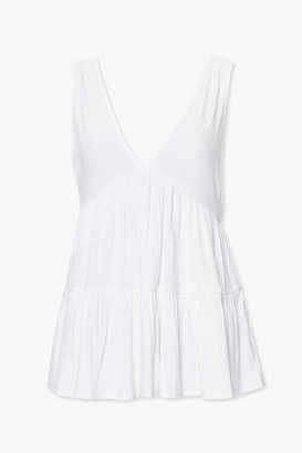 Forever 21 Ribbed Layered-Hem Top
