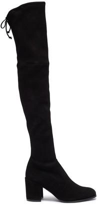 Stuart Weitzman 'Tieland' stretch suede thigh high boots