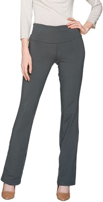 Women With Control Petite Tummy Control Low Bell Knit Pants