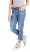 Gap Stretch destructed girlfriend jeans