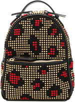Les Petits Joueurs Baby Mick Leopard Leather Backpack