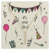 """Charlotte Women's Greeting Card and Necklace Set """"It's Your Day"""""""