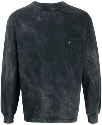 Aries acid wash square neck T-shirt