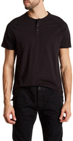 Kenneth Cole New York Three Button Short Sleeve Henley Shirt