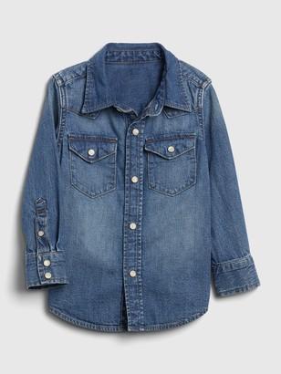 Gap Toddler Denim Western Shirt