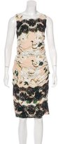Dolce & Gabbana Lace-Accented Printed Dress