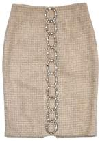 Tracy Reese Tan Embellished Tweed Suit Skirt