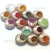 Brand New 15 Cold Metallic Colorful Glitter Shimmer Pearl Loose Eyeshadow Pigments Mineral Eye Shadow Dust Pot Powders Makeup Party Beauty Salon Cosmetic Kit US SELLER by WindMax