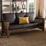Baxton Studio Charlotte Faux-Leather Sofa