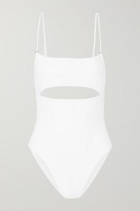 JADE SWIM Eclipse Cutout Swimsuit - White