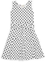 Kate Spade Girls' Bow Dot Knit Dress - Sizes 7-14