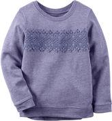 Carter's Long-Sleeve Purple Knit Fashion Top - Girls 4-8