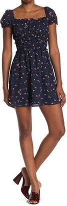 Rowa Emma Floral Puff Sleeve Mini Dress