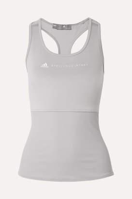 adidas by Stella McCartney Performance Essentials Mesh-paneled Climalite Stretch Tank - Gray