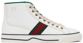 Gucci White Tennis 1977 High-Top Sneakers