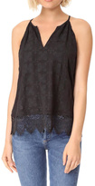 Joie Silk Embroidered Tank