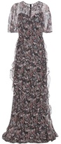 Valentino Butterfly print silk dress