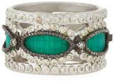 Armenta New World Mosaic Wide Band Ring, Size 7