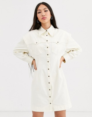 ASOS twill utility shirt dress