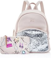 Barbie Girl's Shining Leather School Casual Backpack with Coin Purse BBBP099.02A
