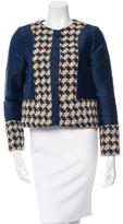 Erdem Tweed Panel Crew Neck Jacket