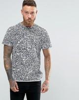 NATIVE YOUTH Leaf Print T-Shirt