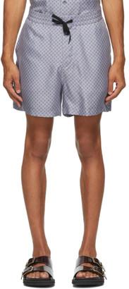 Tiger of Sweden SSENSE Exclusive Blue Twolum Shorts