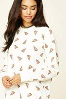 Forever 21 FOREVER 21+ Pizza Graphic Sweatshirt