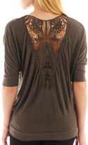 i jeans by Buffalo Lace-Back Short-Sleeve Top
