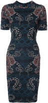 Yigal Azrouel woven serpent jacquard dress - women - Polyamide/Polyester/Cupro - 0