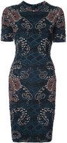 Yigal Azrouel woven serpent jacquard dress