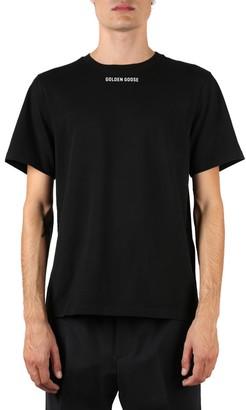 Golden Goose Black Cotton T-shirt With Back Print