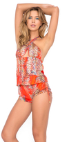 Luli Fama Wanderlust Crossed Band Romper in Multicolor (L452958)