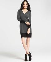 Colorblocked V-Neck Sweater Dress