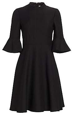 Valentino Women's Flutter Sleeve Wool & Silk Dress