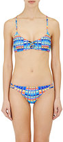 Mara Hoffman WOMEN'S LATTICE FRONT BRALETTE BIKINI TOP