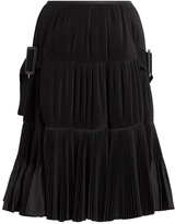 Toga Accordion-pleated taffeta skirt