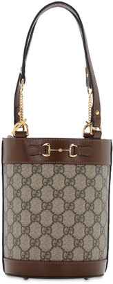 Gucci Gg 1955 Horsebit Small Canvas Bucket Bag