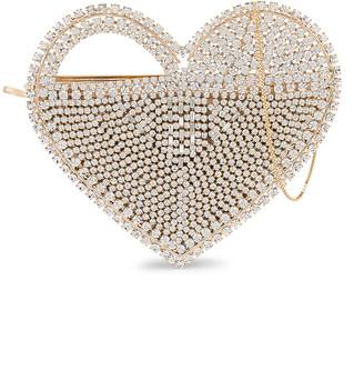 Rosantica Regina Bag in Gold & Crystals | FWRD
