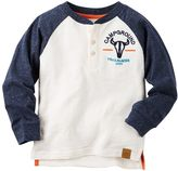 Carter's Boys 4-8 Embroidered Camping-Themed Henley Tee