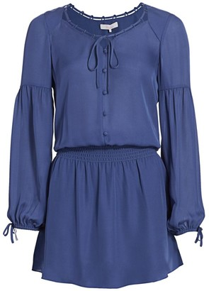 Parker Dorit Silk Blouson Dress
