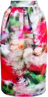 Adam Lippes High-Waisted Floral Print Skirt