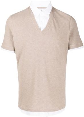 Brunello Cucinelli Shirt-Placket Knit Jumper