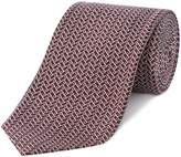 Chester Barrie Silk Tie - Woven Dot & Triangle